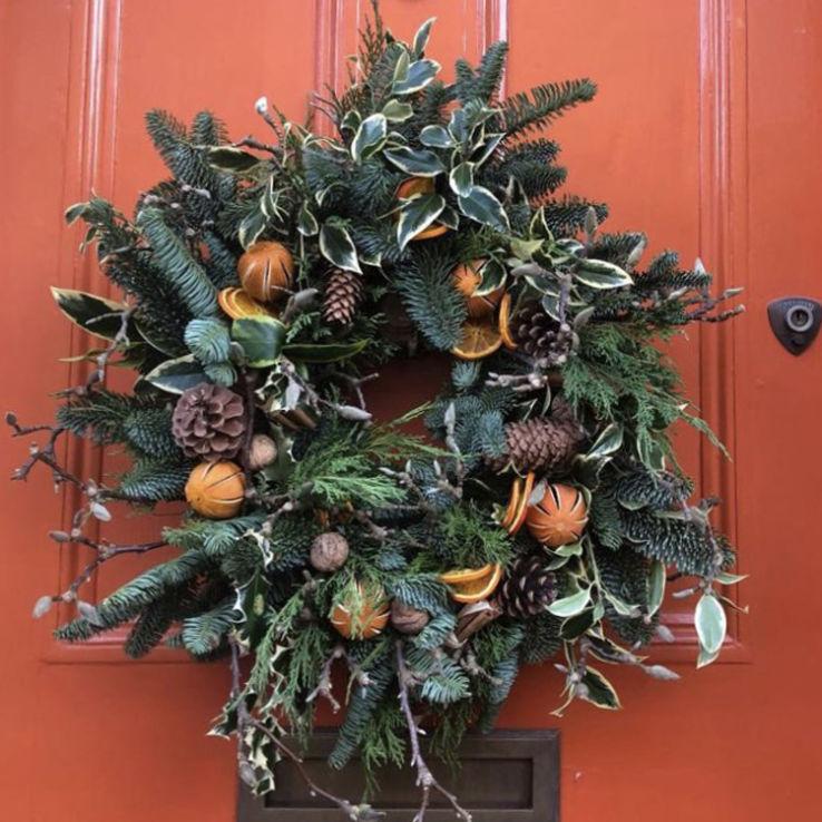 Wreath trad orangedoor